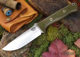 Bark River Kitchen Knives by Bark River Knives Bravo 1 Cpm 3v Green Linen Micarta Red
