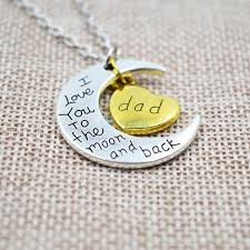 I Love You To The Moon And Back Personalized Necklace I Love You To The Moon And Back Silver Necklace Vintage Family