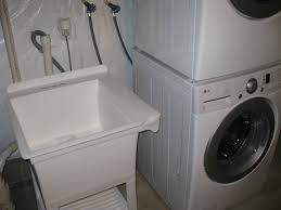 installing utility sink next to washer dryer plumbing diy home