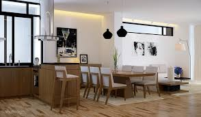black white oak dining suite kitchen lounge interior design ideas