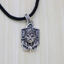personalized sterling silver necklaces retro thai silver lion care pendant tag sterling silver