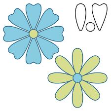 9 best images of 6 petal flower template quilt 6 petal flower