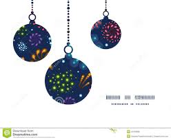 vector holiday fireworks christmas ornaments stock vector image