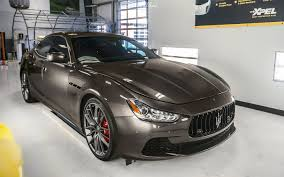 maserati ghibli car wrap in xpel stealth paint protection