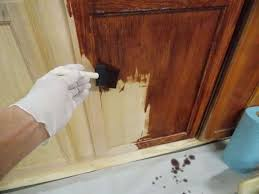 how to paint unfinished cabinets staining repurposing unfinished oak cabinets minwax