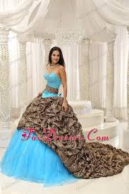 beautiful quinceanera dresses dress leopard and organza sweetheart sash 2013