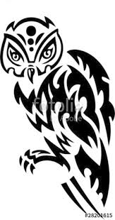 owl tribal animals stock image and royalty free vector files on