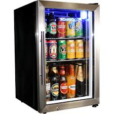 glass door tropical beer fridge compact 68 litre with lock