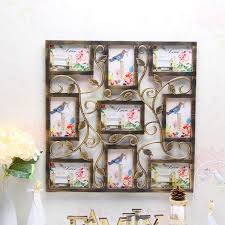 9 patterm photo frames hanging family love collage picture