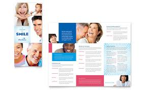 family dentistry tri fold brochure template word u0026 publisher