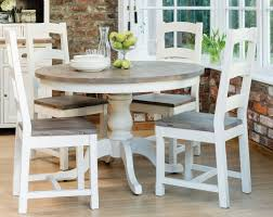 furniture round farmhouse kitchen table and chairs set white
