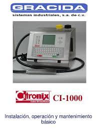 manual de mantenimiento y servicio citronix ci 1000