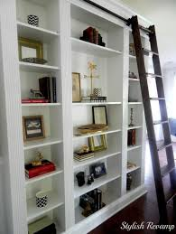 White Ladder Shelves by Furniture Intresting Rolling Library Ladder Ideas For White