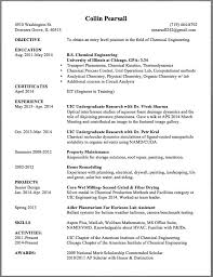 Chemical Engineer Resume Template Successful Objectives In Chemical Engineering Resume Check Out