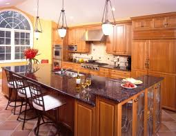 Cincinnati Kitchen Cabinets Kitchen With Dark Cabinets An Island And Hardwood Floors The
