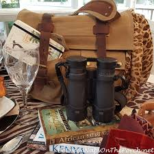 themed tablescapes an safari themed table setting