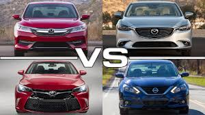 2016 nissan maxima youtube honda accord vs mazda 6 vs toyota camry vs nissan altima youtube
