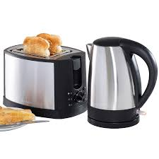 daewoo stainless steel kettle and toaster set toasters kitchen