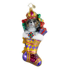 radko ornaments dog christmas ornament its good to be king dog