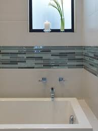 Downstairs Bathroom White Subway Tile In Shower Stall With Glass