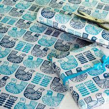 bird wrapping paper folk bird wrapping paper 5 sheets rex london dotcomgiftshop
