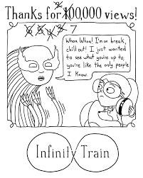 oh hey hello infinity train has 700 000 views on cartoon