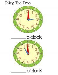 time worksheet o u0027clock for kids 1 funnycrafts