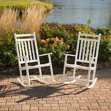 White Rocking Chair Dixie Seating Wrightsville Indoor Outdoor Slat Rocking Chairs