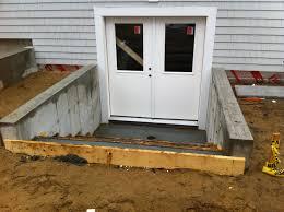 wondrous ideas basement door how to build a outside basement