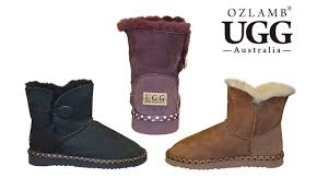 ugg boots australia groupon ozlamb ugg ankle boots groupon