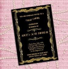 great gatsby style art deco birthday party invitation 21st