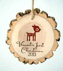 Custom Baby Ornaments Baby U0027s First Christmas Personalized Photo Block Pink 15 00 Via