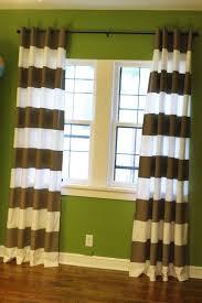 interior cool teal brown fabric modern striped window curtain