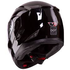 vega motocross helmet amazon com dual visor modular flip up gloss black motorcycle