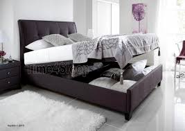 Super King Bed Size Kaydian Accent Upholstered Ottoman Storage Bed Slate Super