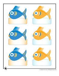 printable bulletin board name cards small ocean fish woo jr