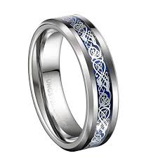 celtic knot wedding bands 6mm unisex or women s wedding band silver and blue resin inlay