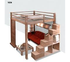 lit mezzanine 2 places avec canapé canape lit superpose avec canape lit mezzanine avec banquette ikea