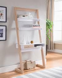 Diy Build A Desk by Leaning Shelf Desk White Decorative Desk Decoration