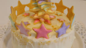 star tree christmas cookie cake お星さまのクリスマスケーキ youtube