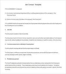 11 job contract templates u2013 free word pdf documents download