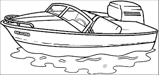 motor boat coloring pages coloring