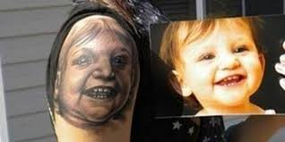 awkward family photos parents with seriously regrettable baby tattoos