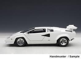 white and lamborghini lamborghini countach 5000 qv white 1985 1 18 model cars