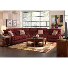 Reclining Sectional Sofa Catnapper Voyager Reclining Sectional Set Brandy Hayneedle