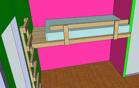 Wooden Loft Bed Diy by Build A Built In Twin Loft Bed Jays Custom Creations