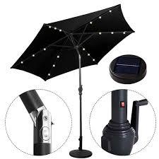 Patio Umbrella Solar Lights by 3m Led Lights Umbrella Solar Patio Outdoor Party Garden Sunshade