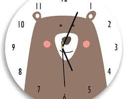 woodland clock etsy