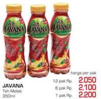 Teh Javana 350ml promo harga javana teh terbaru minggu ini katalog lottemart hemat id