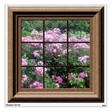 fake window scenes wall decals u0026 wall stickers zazzle
